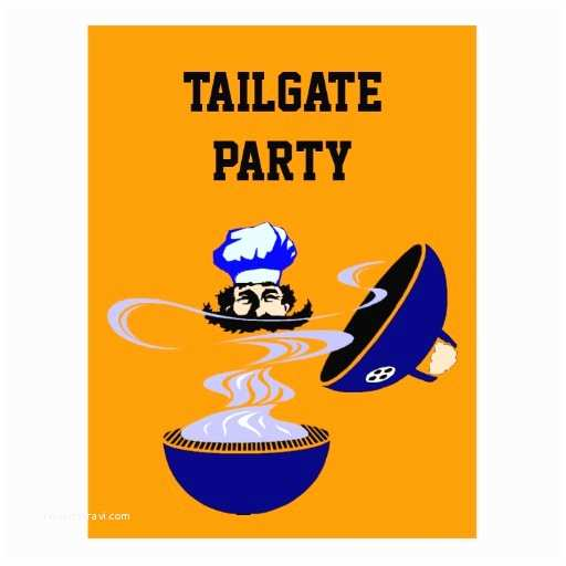 Tailgate Party Invitation Postcard Tailgate Party Invitations Cookout Grill