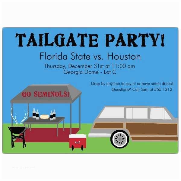 Tailgate Party Invitation Pregame Tailgate