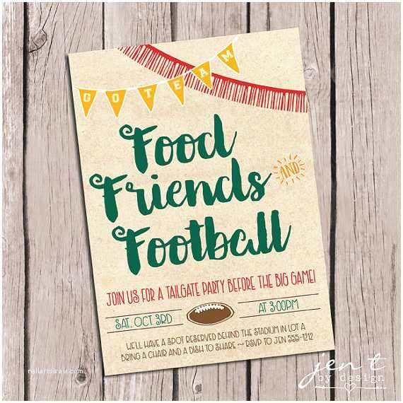 Tailgate Party Invitation Tailgate Invitations By Jen T By
