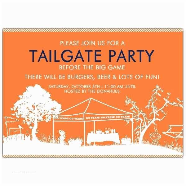 Tailgate Party Invitation Tailgate Party Go Auburn Tigers Invitations