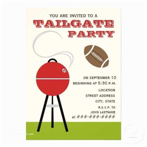 "Tailgate Party Invitation Tailgate Party Invitation 5"" X 7"" Invitation"