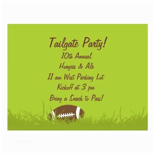 Tailgate Party Invitation Tailgate Party Invitation Postcard