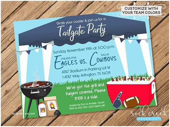 Tailgate Party Invitation Tailgate Party Invitation Tailgating Party Football