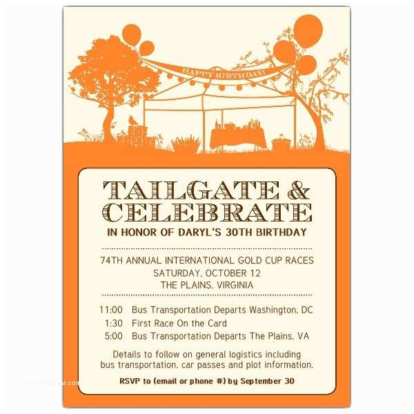 Tailgate Party Invitation Tailgate Party Invitation
