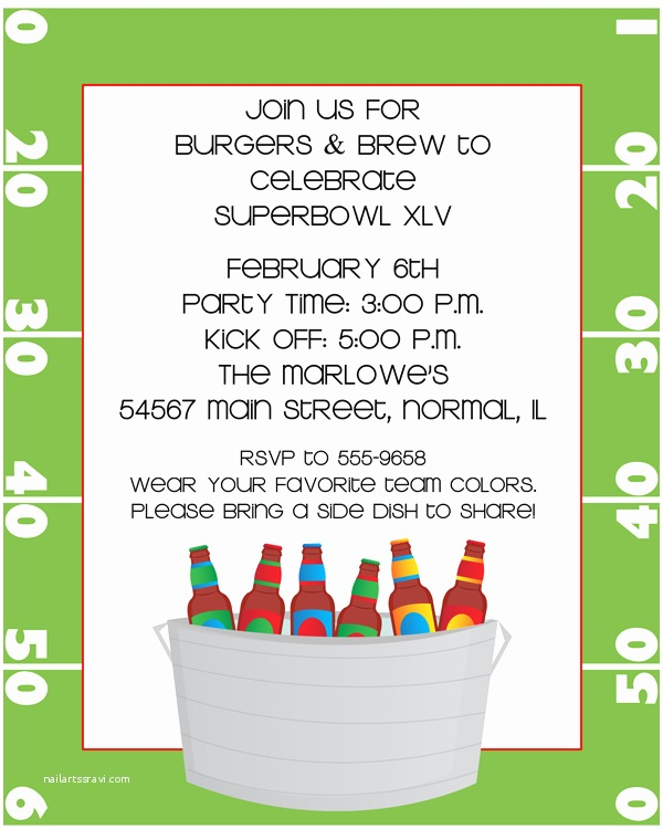 Tailgate Party Invitation Tailgate Party Invitation Wording