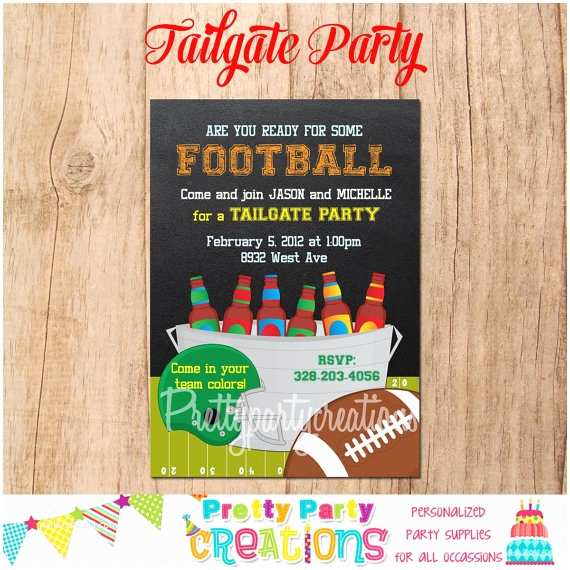 Tailgate Party Invitation Tailgate Party Invitation You Print