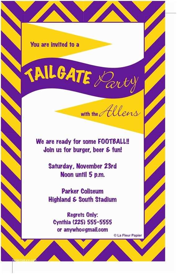 Tailgate Party Invitation Tailgate Party Invitations & Envelopes Chevron