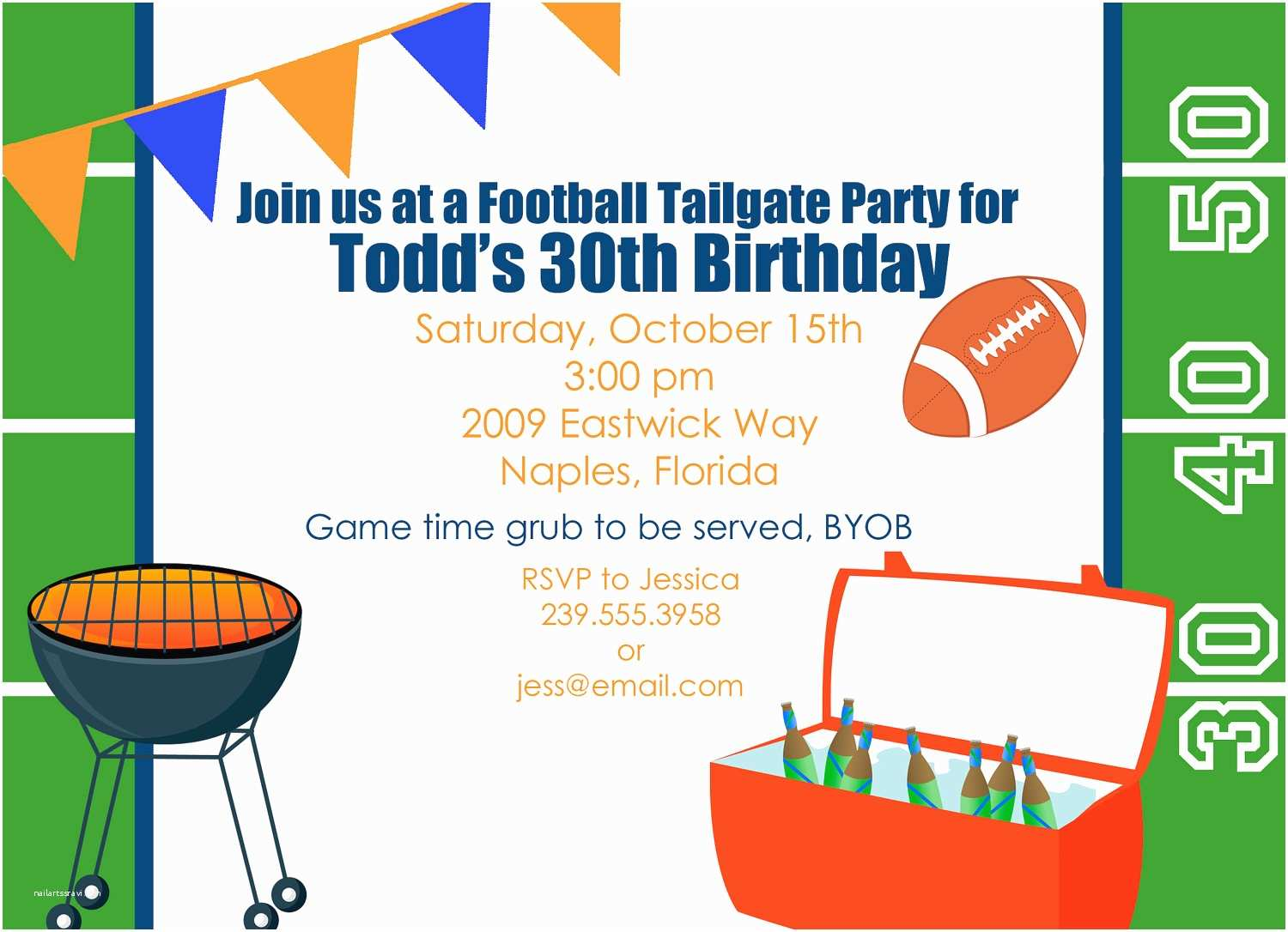 Tailgate Party Invitation Tailgate Party