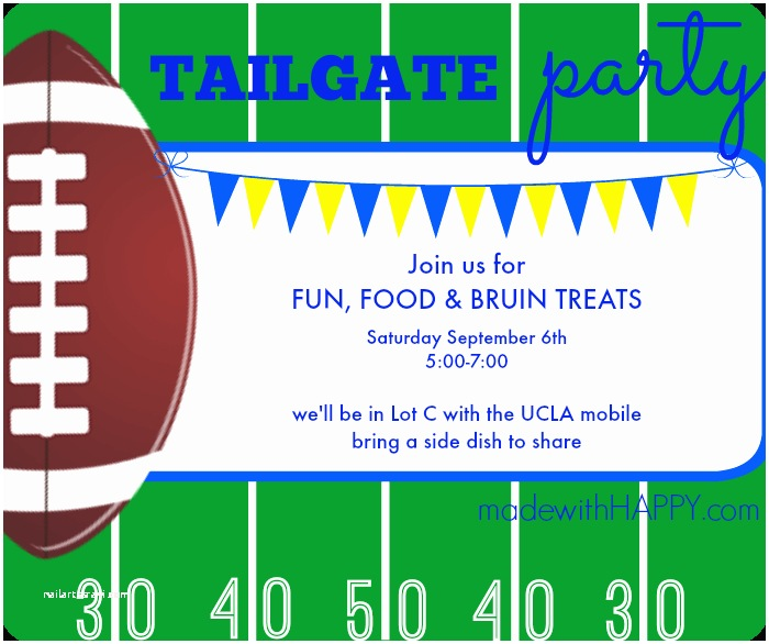Tailgate Party Invitation Tailgate Party Invites Made with Happy