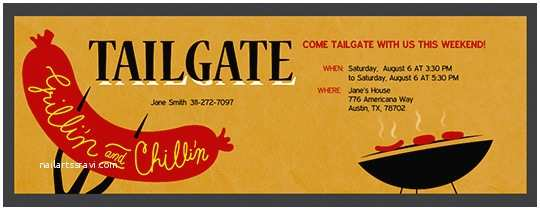Tailgate Party Invitation Tailgating Party Online Free