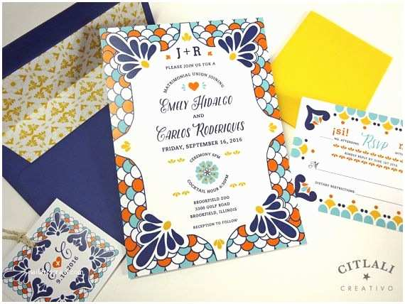 Talavera Wedding Invitations 1000 Ideas About Mexican Wedding Invitations On Pinterest