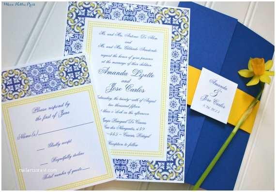 Talavera Wedding Invitations Mexican Wedding Invitations Talavera