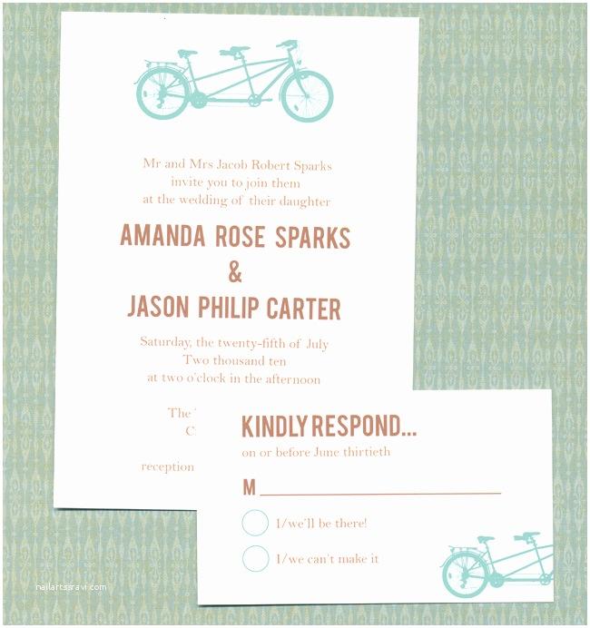 Tandem Wedding Invitations 10 Free Printable Wedding Invitations Diy Wedding