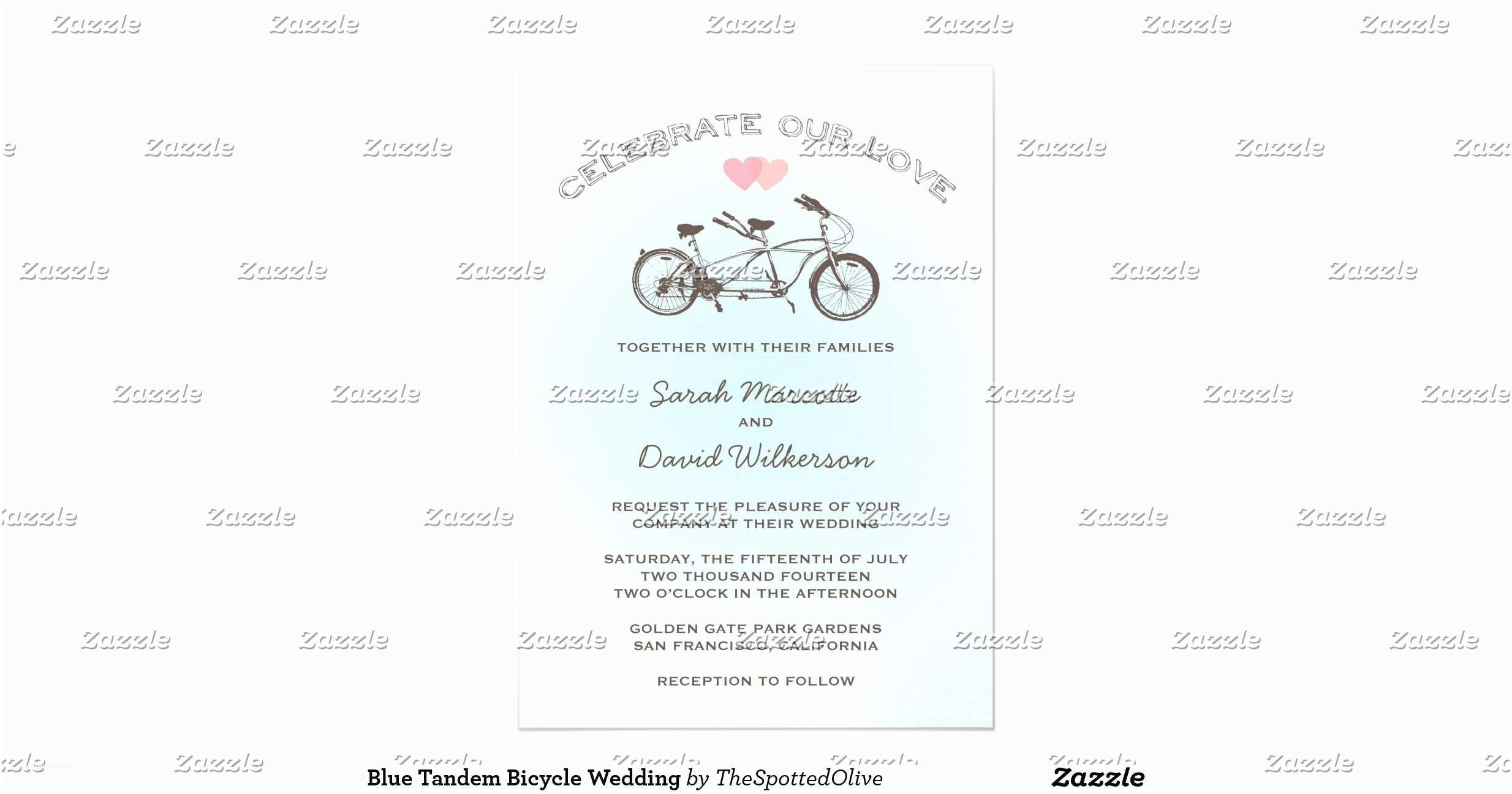 Tandem Wedding Invitations Tandem Bicycle Wedding Invitation