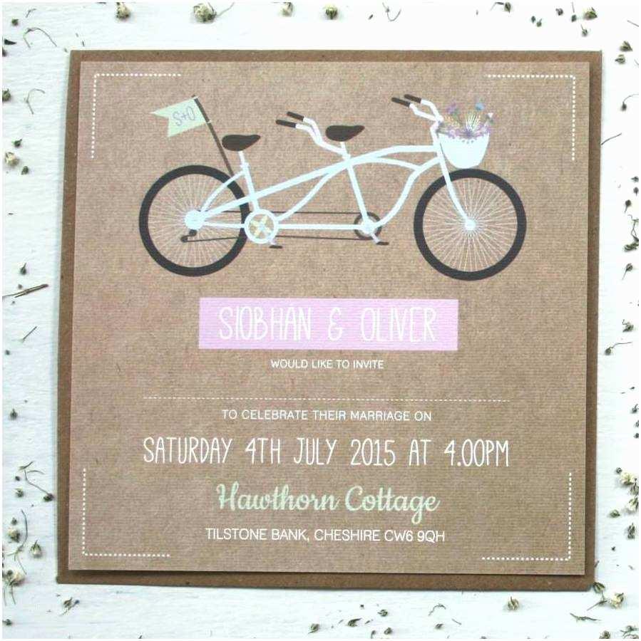tandem bicycle wedding invitations uk