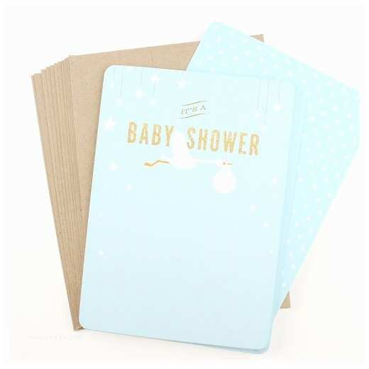 Target Baby Shower Invitations Inklings Paperie Blue Stork Print On Baby Shower