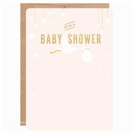 Target Baby Shower Invitations Inklings Paperie Pink Stork Print On Baby Shower