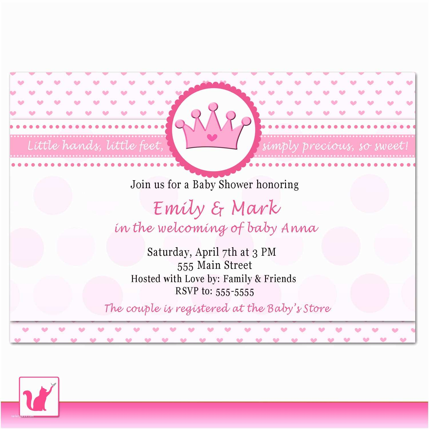 Target Baby Shower Invitations Template Printable Princess Baby Shower Invitations
