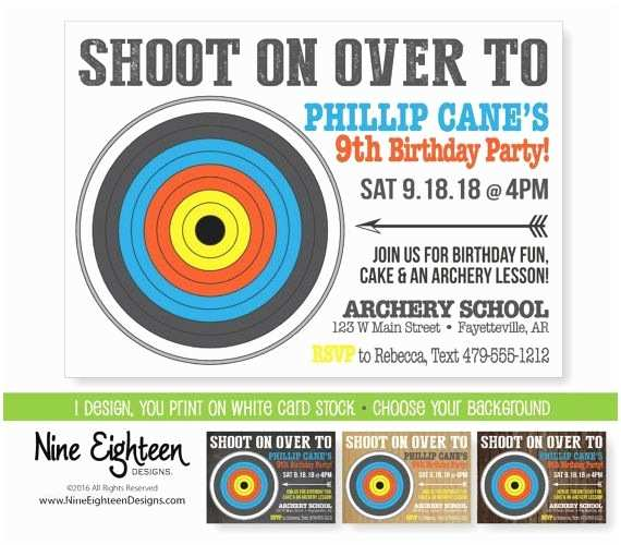Target Birthday Invitations 48 Best Archery Party Images On Pinterest