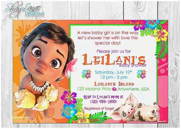 Target Birthday Invitations Moana Invitation Tar