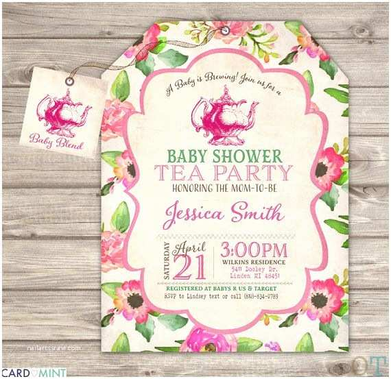 Tea Party Baby Shower Invitations 17 Best Ideas About Tea Baby Showers On Pinterest