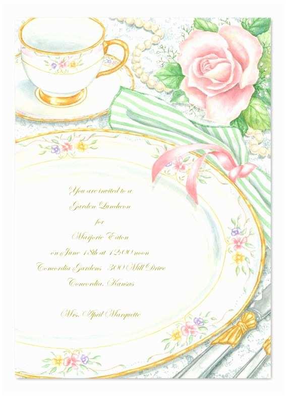 Tea Party Birthday Invitations Elegant Tea Party Birthday Invitations I Wish My China