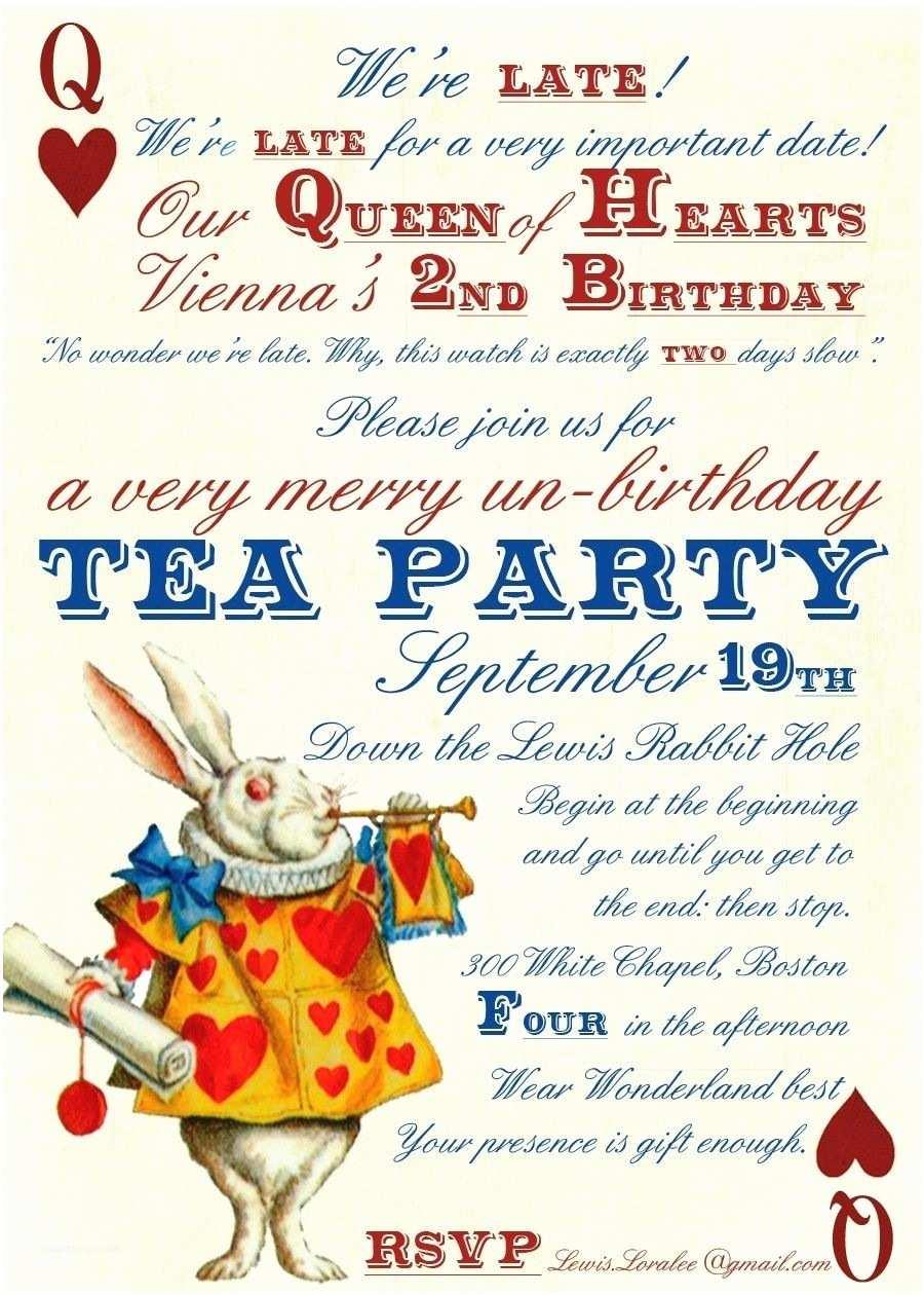 Tea Party Birthday Invitations Invitation Alice In Wonderland Tea Party