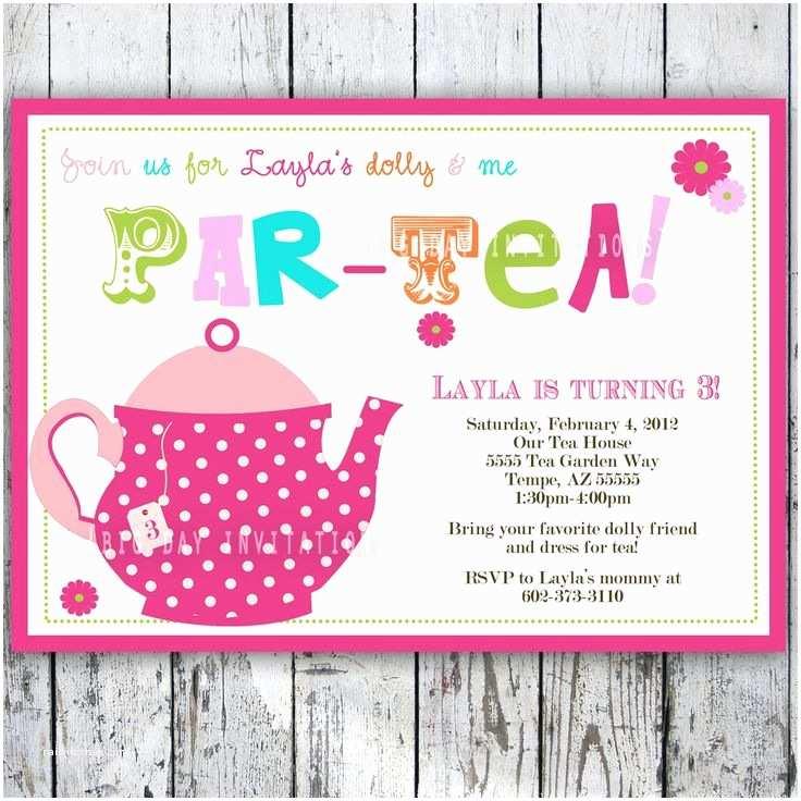 Tea Party Birthday Invitations Tea Party Birthday Invitation Tea Party Birthday Invite