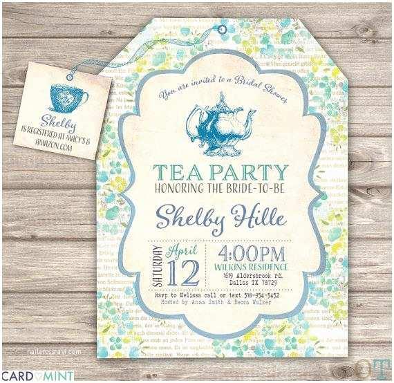 Tea Party Bridal Shower Invitations 26 Blue Bridal Tea Party Bridal Shower Invitations 26 Book