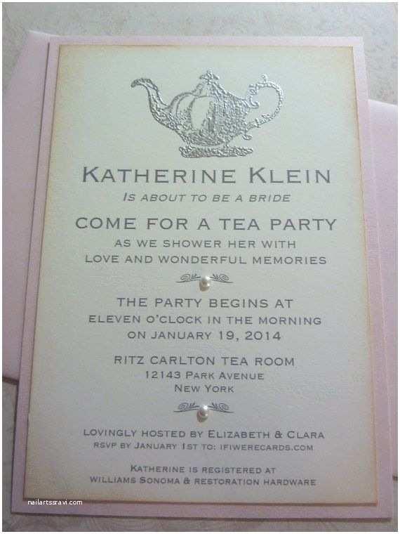 Tea Party Bridal Shower Invitations Bridal Shower Tea Party Invitation Bride to Be Party