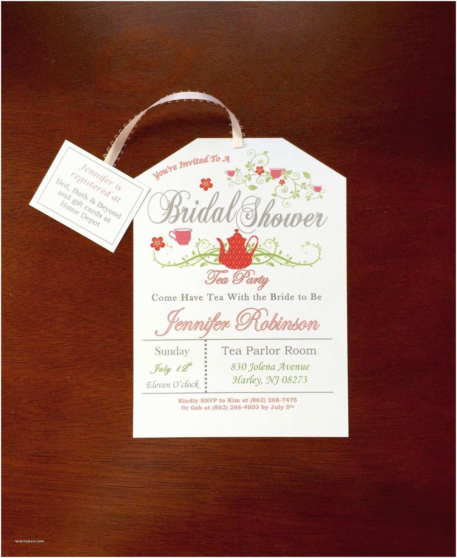 Tea Party Bridal Shower Invitations Tea Party Bridal Shower Invitation