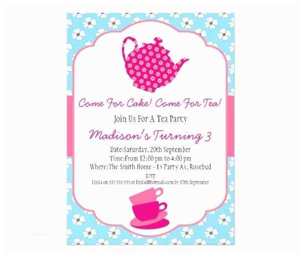 Tea Party Invitation Template 41 Tea Party Invitation Templates Psd Ai