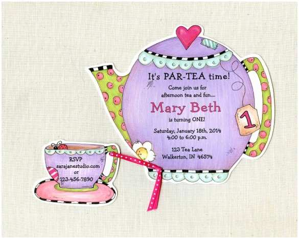 Tea Party Invitation Template Free Afternoon