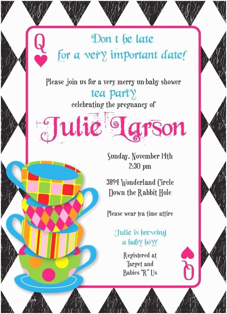 Tea Party Invitation Template Free Mad Hatter Tea Party Invitations Templates Free