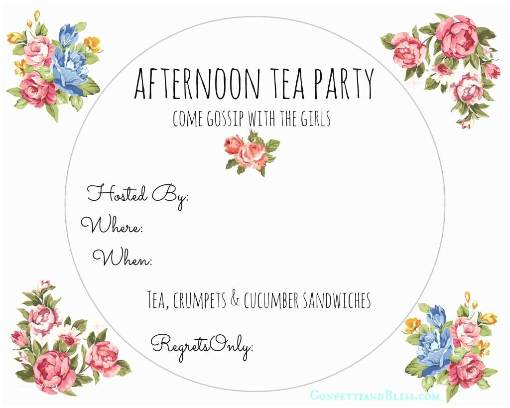 image about Free Printable Tea Party Invitation Templates named Tea Occasion Invitation Template Absolutely free Tea Bash Invite