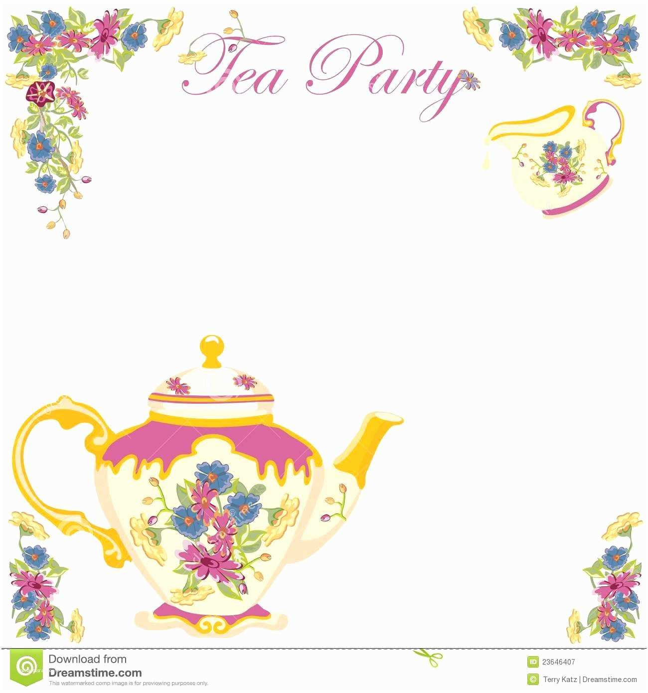 Tea Party Invitation Template Free Tea Party Invites