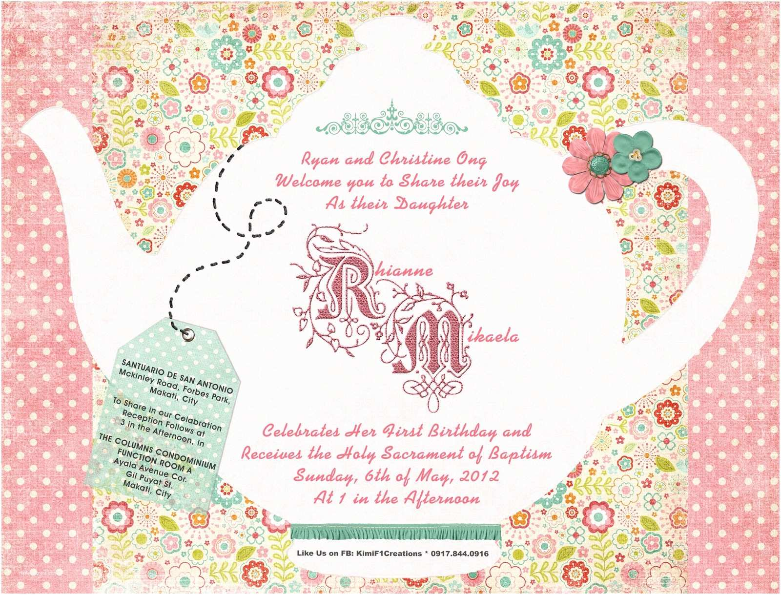 Tea Party Invitation Wording F1 Digital Scrapaholic Garden Tea Party Invitation
