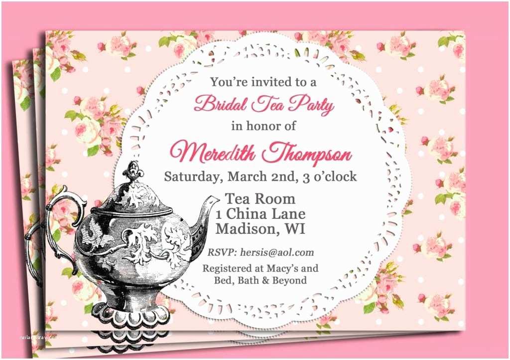 Tea Party Invitation Wording Vintage Cup March 2015