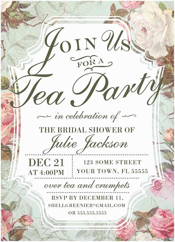 Tea Party Invitations 25 Best Ideas About Tea Party Invitations On Pinterest