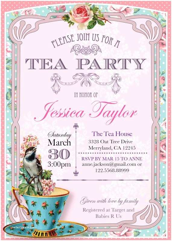 Tea Party Invitations 296 Best Party High Tea Images On Pinterest