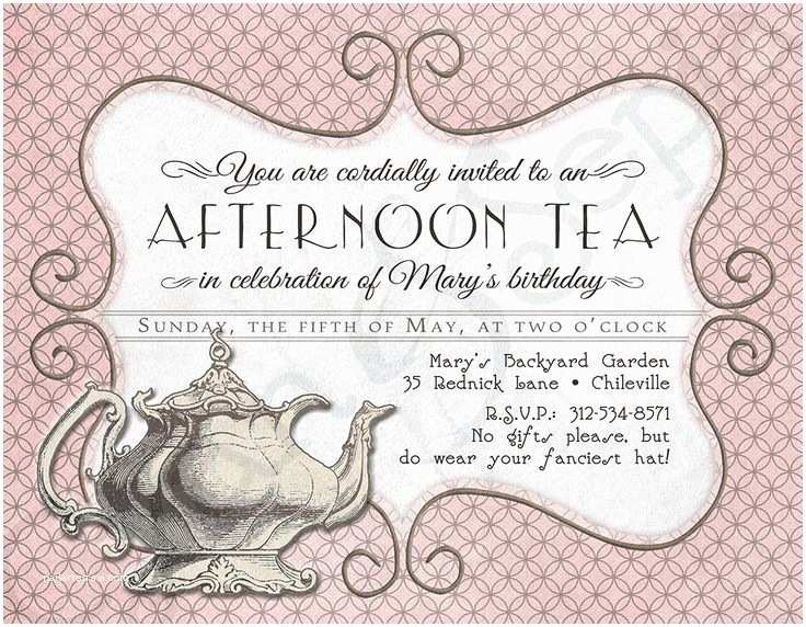 Tea Party Invitations Best 25 Tea Party Invitations Ideas On Pinterest