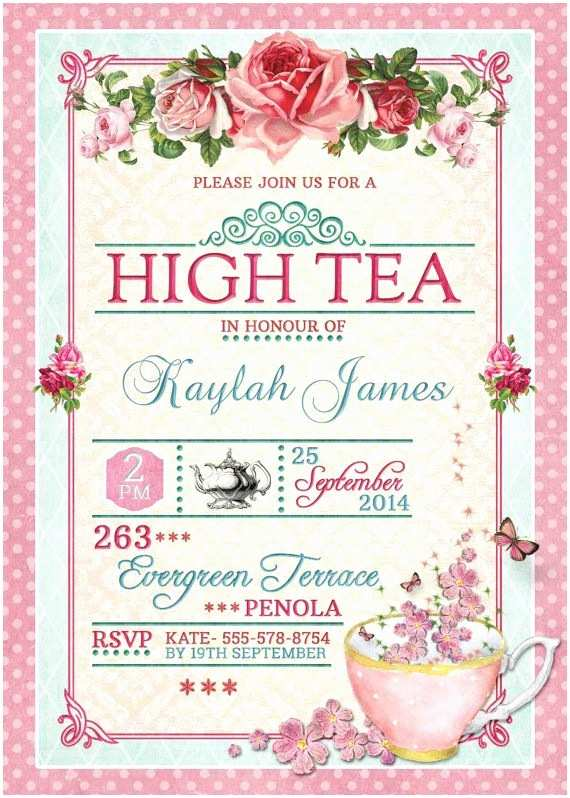 Tea Party Invitations Best 25 Tea Party Invitations Ideas Only On Pinterest