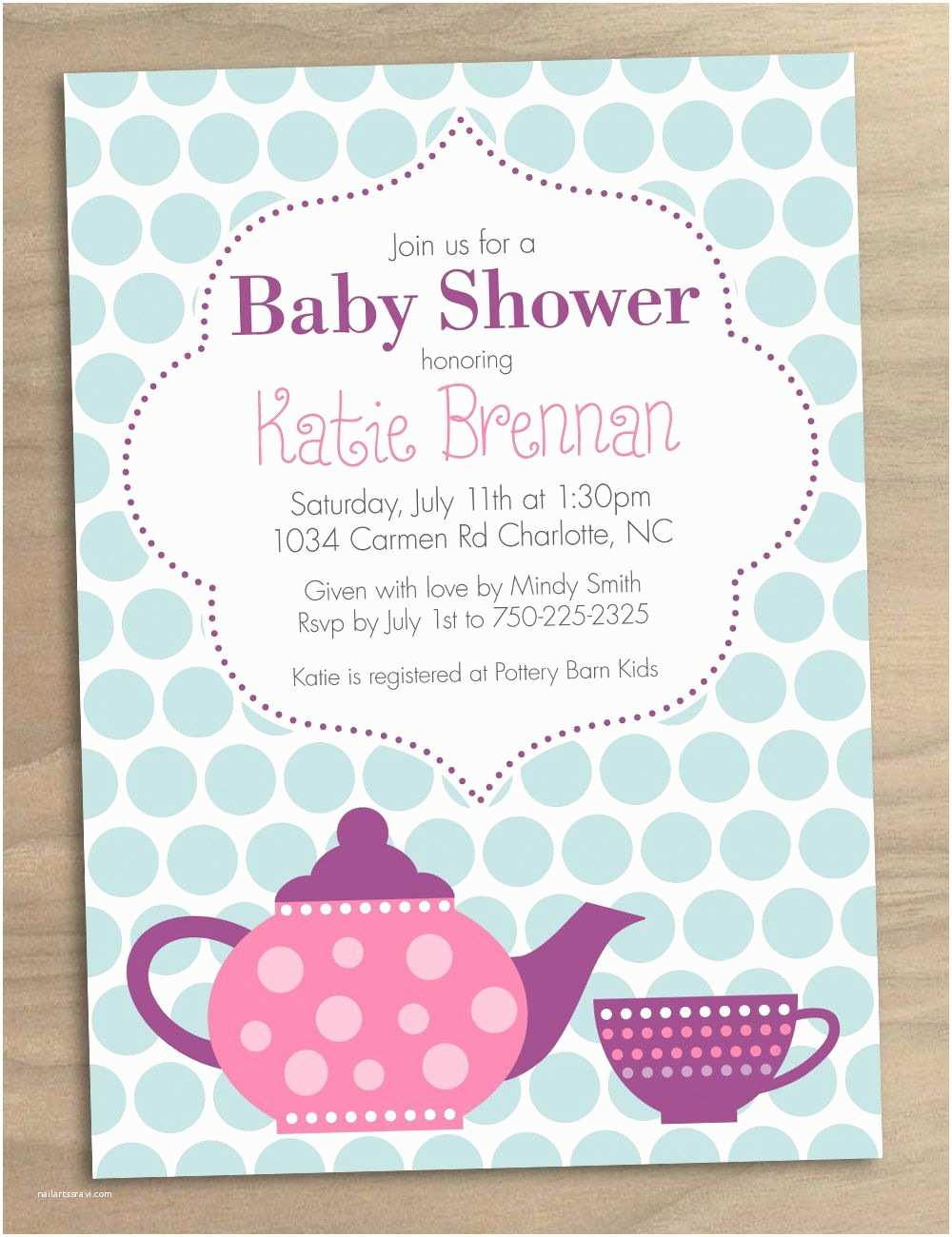 Tea Party Invitations Bridal Shower Tea Party Invitations Bridal Shower Tea