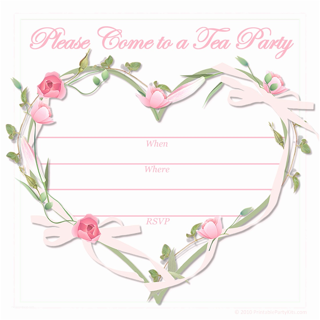 Tea Party Invitations Free Printable Party Invitations Free Printable Pink Tea