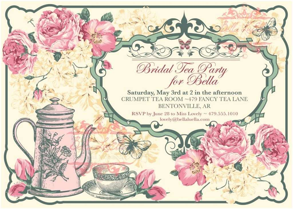 Tea Party Invitations Free Vintage Tea Party Invitation Template