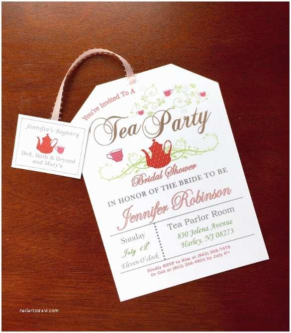 Tea Party Invitations Tea Party Birthday Invitation Template