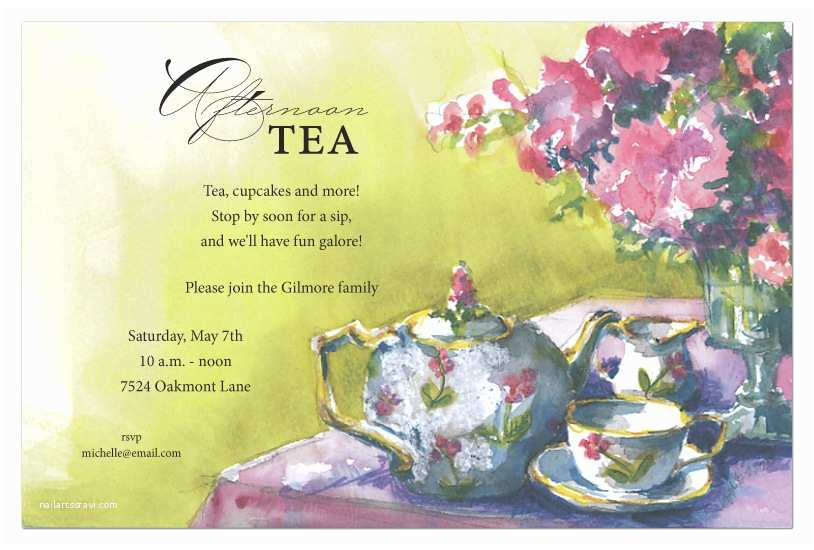 Tea Party Invitations Tea Party Invitation
