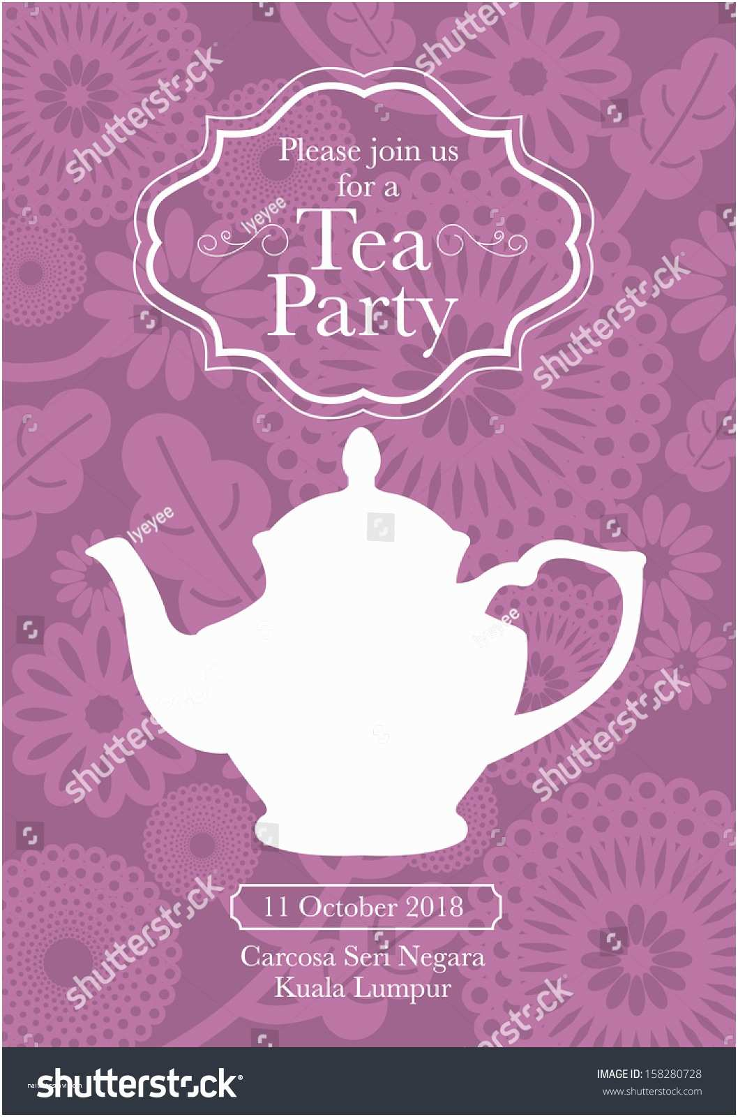 Tea Party Invitations Tea Party Invitation Template – Gangcraft
