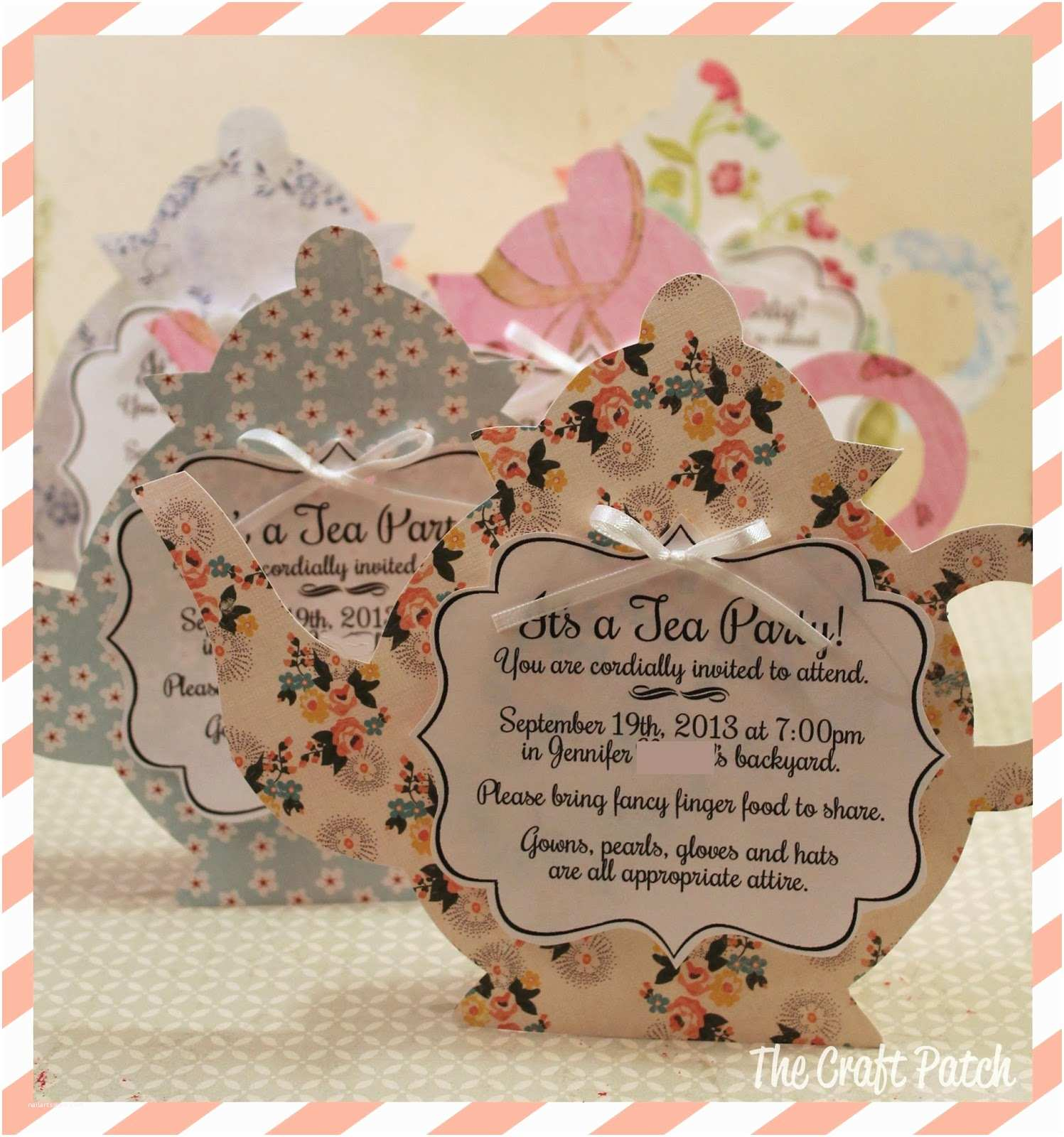 Tea Party Invitations the Craft Patch A Tea Party