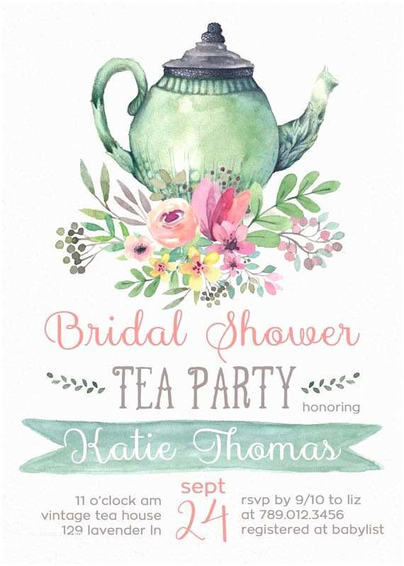Tea Party Wedding Invitations Best 25 Tea Party Bridal Shower Ideas On Pinterest